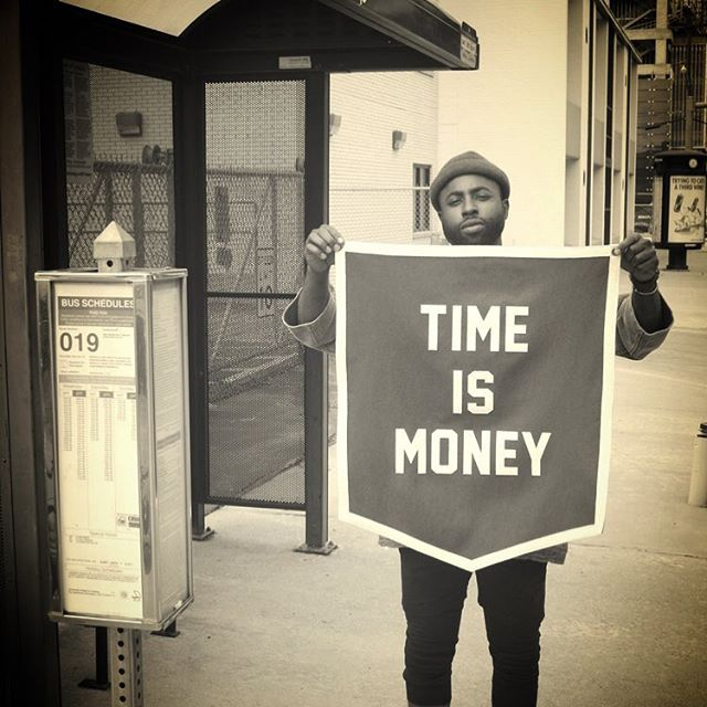 "#waybackwednesday 🕰 ""TIME IS MONEY"" so spend it carefully. @fieldrations x @oxfordpennant banner available on the website under the collaborations tab.... #FRlifestyle www.fieldrations1945.com"