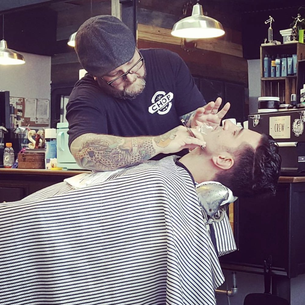 Gents Shave - $20. Traditional straight razor face shave with hot towels & premier shave and skin products