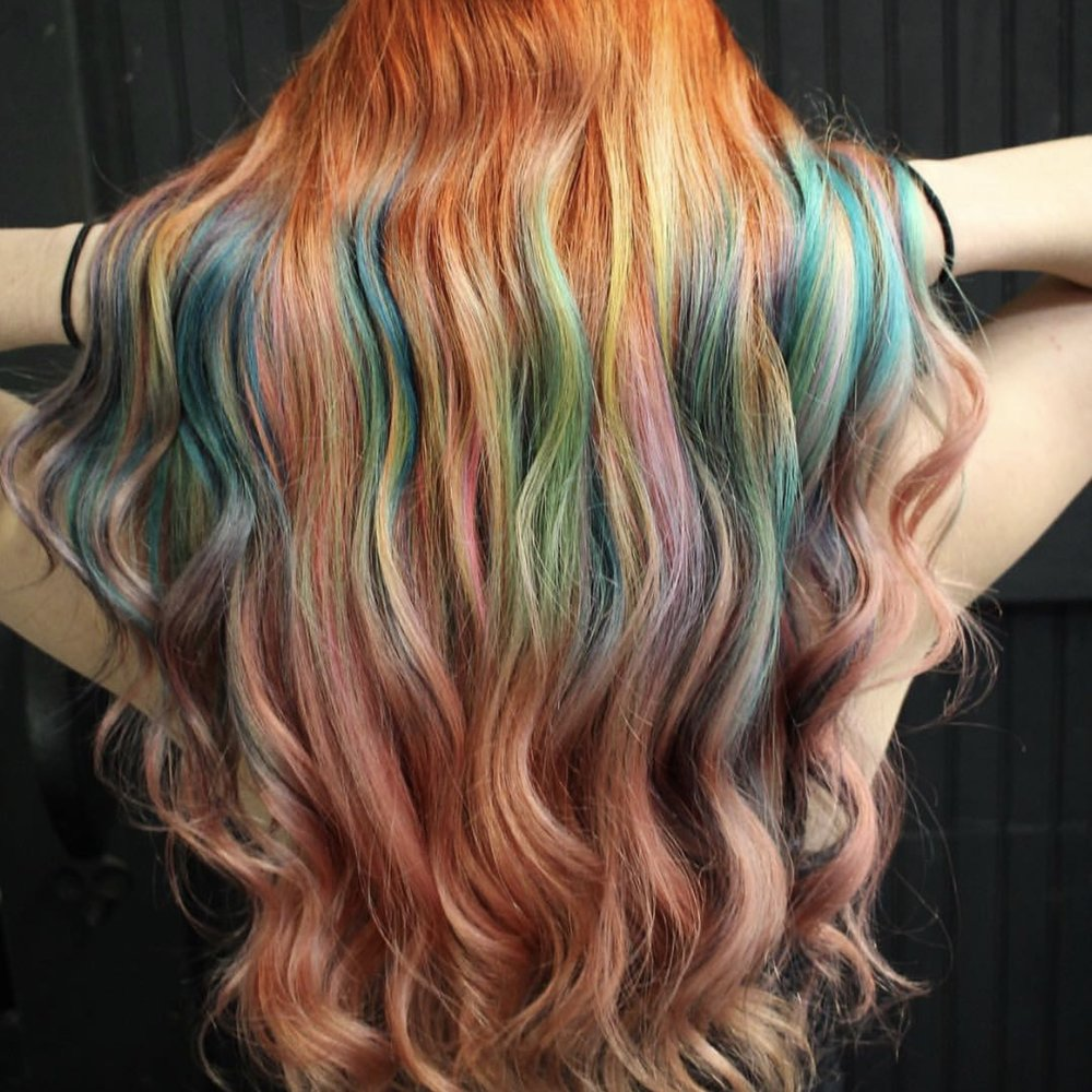 Multi-tonal Mermaid - $250+. Mermaid, unicorn, or galaxy-this just means it's hair color that has several different fashion colors in it. Includes bleaching.