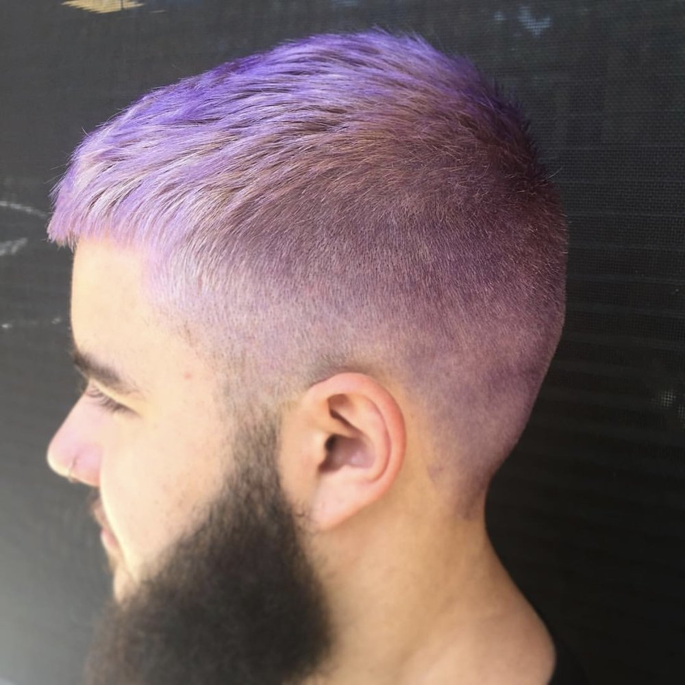 Gents Color - $30+. Grey coverage or fashion color, color options of all kinds are available. Please call or schedule a consultation for details.