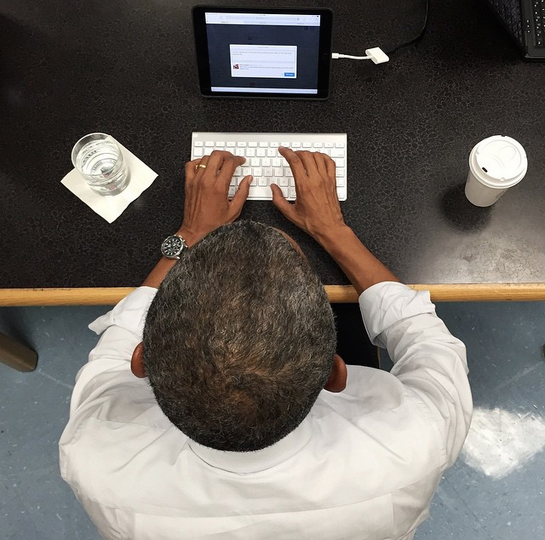 photo by White House photographer Pete Souza