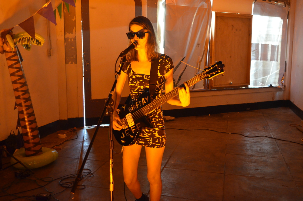 Equipped with just a beat machine and guitar, Colleen Green performs a solo set at k23 Gallery