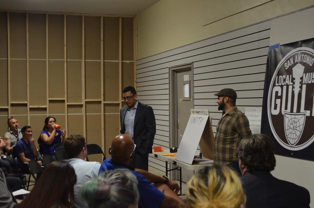 """Cris Medina addresses """"Advocacy"""" portion of the forum."""