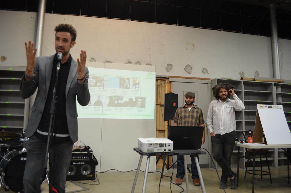 Coordinator of Las Raices music community forum, Adam Tutor addresses the audience. (all photos, Alyssa Bunting)
