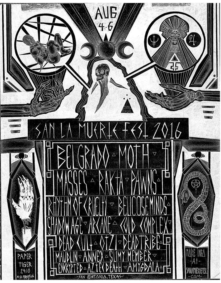 Flyer for San :a Muerte Fest 2016