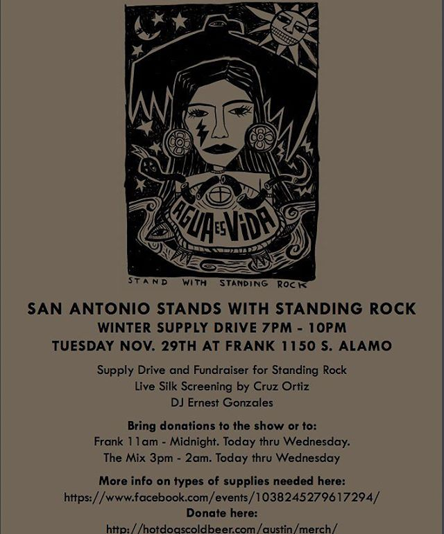 Supply Drive for San Antonio Stands With #StandingRock