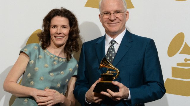 Edie Brickwell and Steve Martin won Grammy for Best American Roots song at 56th annual Grammy Awards a few years back, courtesy photo.