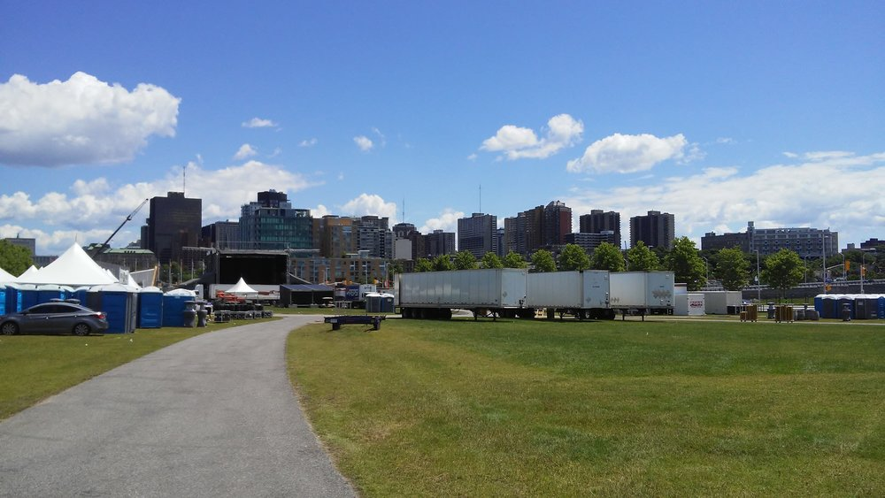 the site of Ottawa Bluesfest