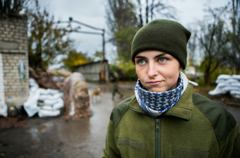 Yulia Mykytenko (22 years old) Ukrainian, soldier, reconnaissance platoon commander, married.  At the inception of the military conflict in the East of Ukraine, Yulia felt the surmountable desire to defend her country. Despite the fact that by education Yulia is a philologist, she volunteered to the Ukrainian army. During the execution of one of the combat missions, Yulia met her future husband. After marriage, she continued her military service to protect her homeland next to her husband in one battalion. Due to her personal qualities, courage and professionalism, Yulia became the platoon commander of the reconnaissance platoon when she was just 21 years old.