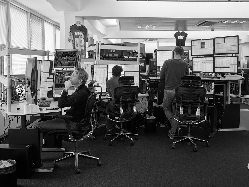 Automated High-Frequency Stock Trading Desk LOCATION Webb Traders Trading Floor, Amsterdam, The Netherlands DESCRIPTION In 2018, automated and quantified trading forms account for about 90 percent of volume in the public equities markets.