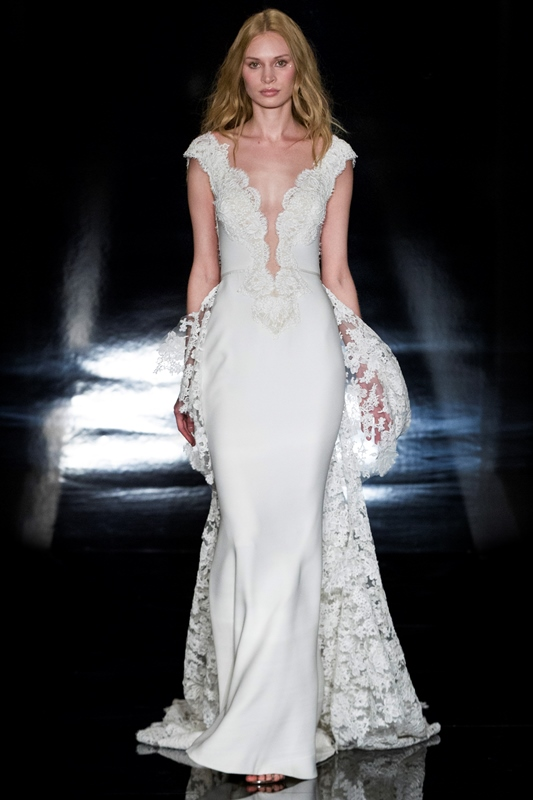 BELLA $6,500 50% OFF,  NOW $3,250  SIZE 8, DRESS ONLY (LACE TRAIN NOT INCLUDED)