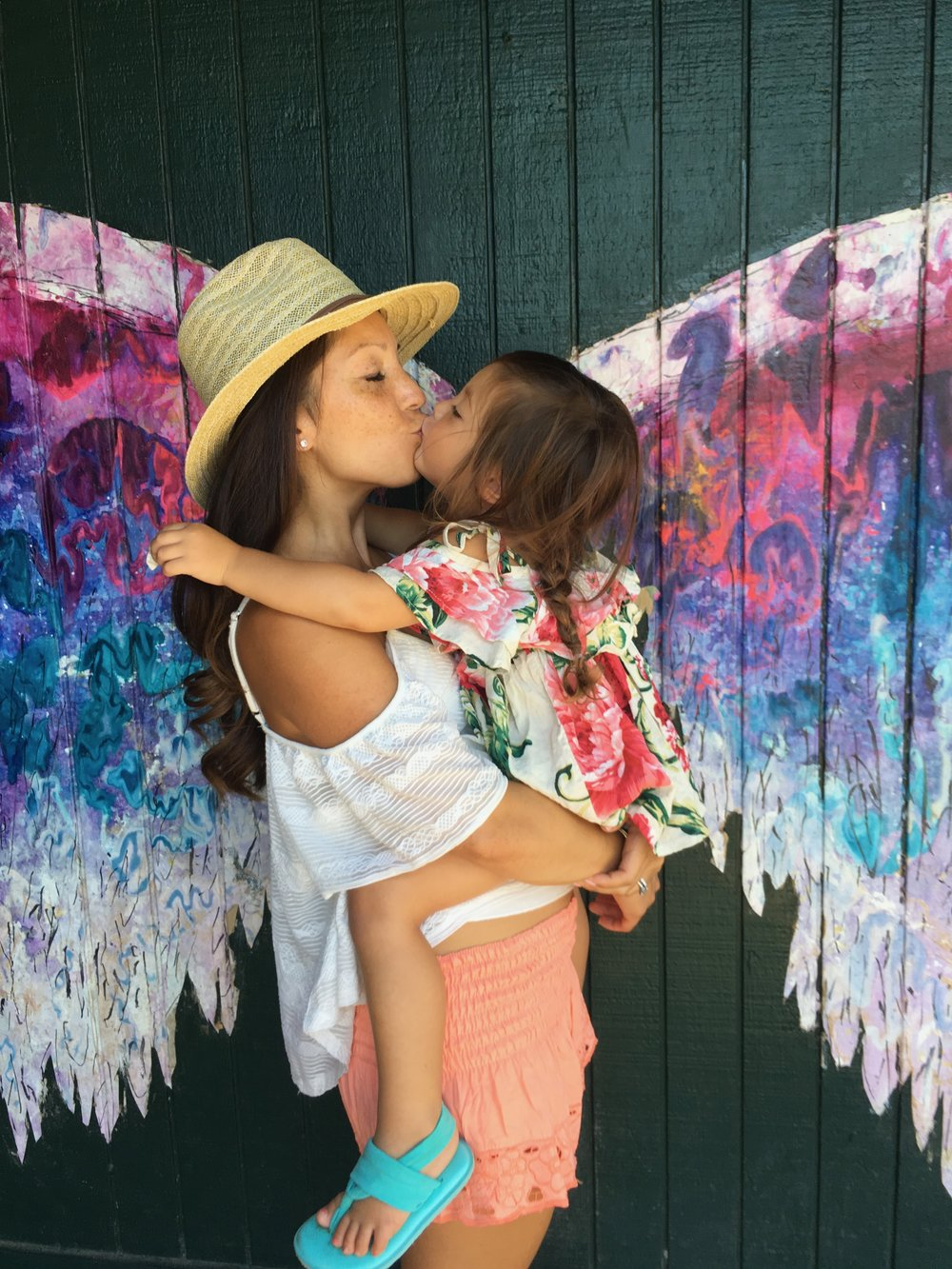 Beautiful angel wing mural In Haleiwa, North Shore
