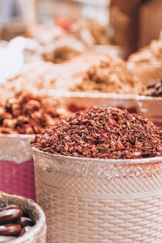 Walking through the spice souk
