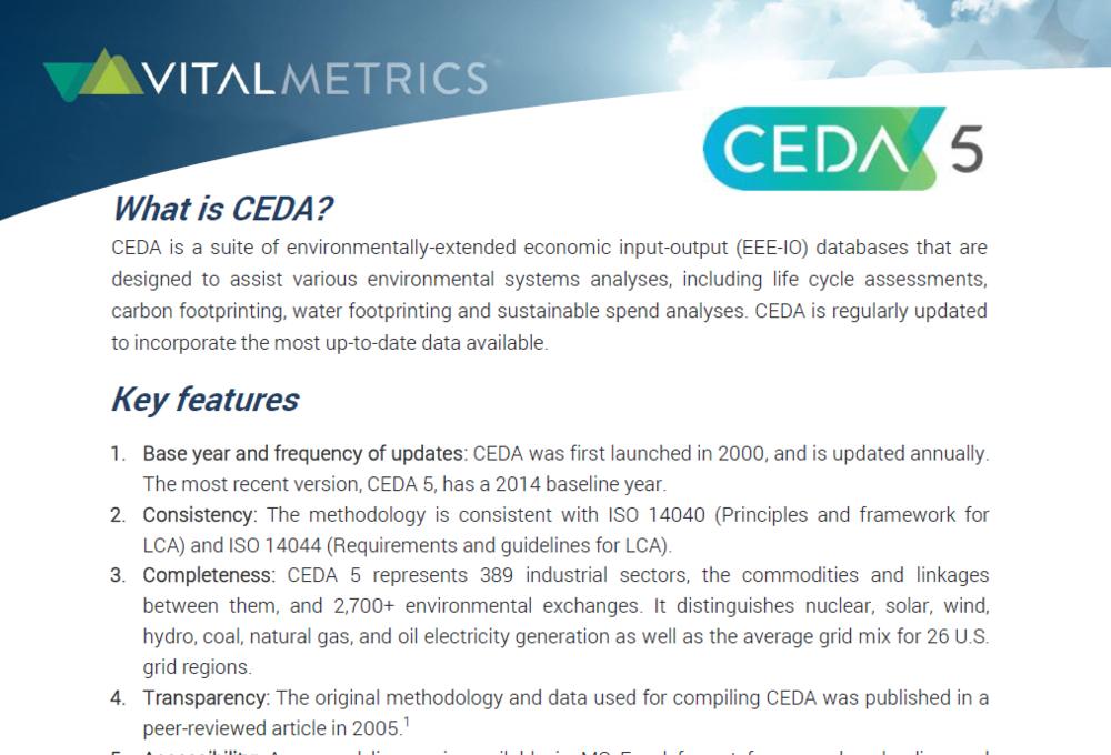 BROCHURE : CEDA USES & APPLICATIONS