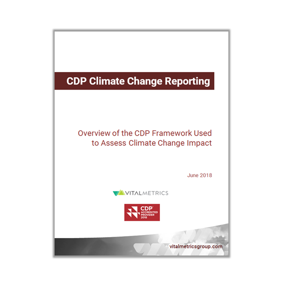 white paper: CDP Climate change reporting      Overview of the cdp framework used to assess climate change impact