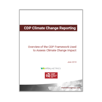 CDP Climate Change Reporting
