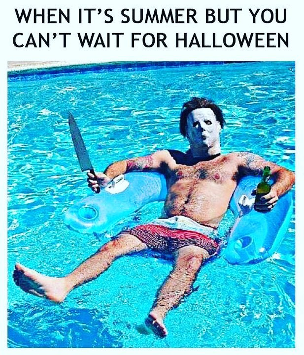 Am I right? #summer #heat #halloween #killer #fall #toohot