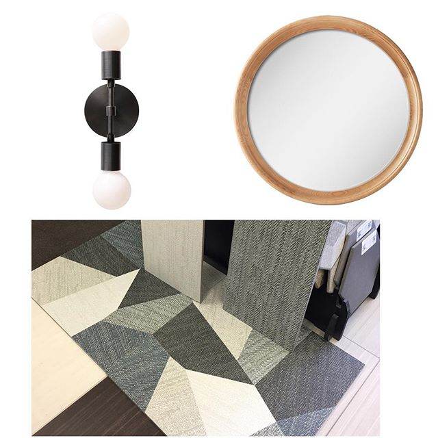 One Bathroom Coming Right Up #DahliasDay #cedarandmoss #woodaccents #ikea #boards #visualize #bathrooms #tile #design #inprogress #accentfloors #uniquechic #decor #nyc #longisland #thetravelingdesigner #details #interiordesign #instagood #inspired #plans #wood #warmth #lighting