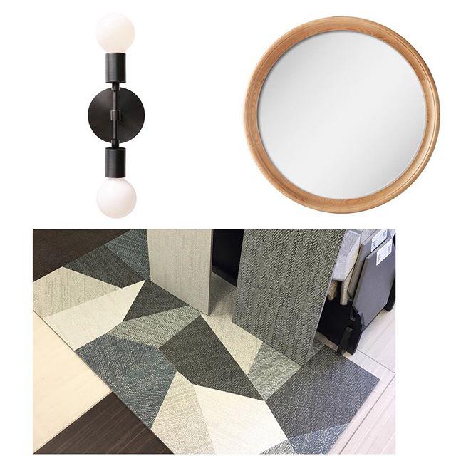 One Bathroom Coming Right Up #DahliasDay #cedarandmoss #woodaccents #ikea #boards #visualize #bathrooms #tile #design #inprogress #accentfloors #uniquechic #decor #nyc #longisland #thetravelingdesigner #details #interiordesign #instagood #inspired #plans #wood #warmth #lighting