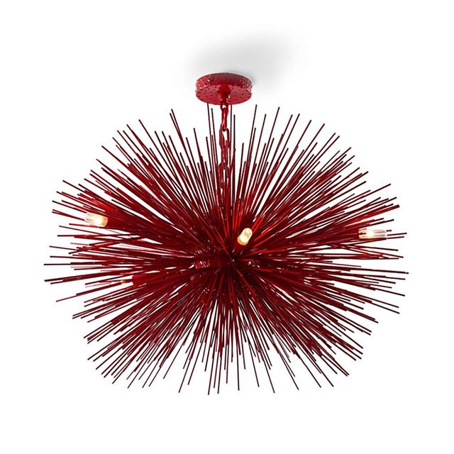BAM #jeandemerry #red #burst #uniquechic #DahliasDay #thetravelingdesigner #finds #thesearch #thefind #nyc #lighting #starburst #love #curator #amazing #interiordesign #decor #homejewelry #casa #home #house