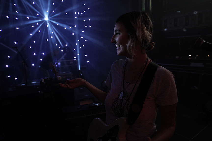 Atlanta, GA / October 06, 2010 - I always enjoyed XX's LD programming lights during Warpaint's sound check.
