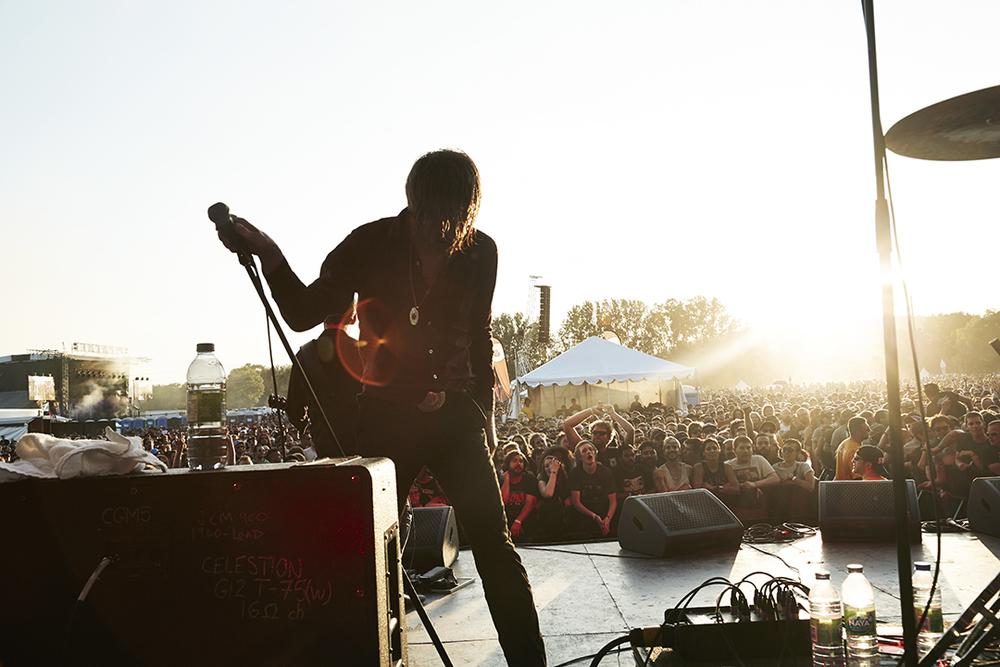 Refused / June 20 2015 / Dennis at Amnesia RockFest, magical hour.