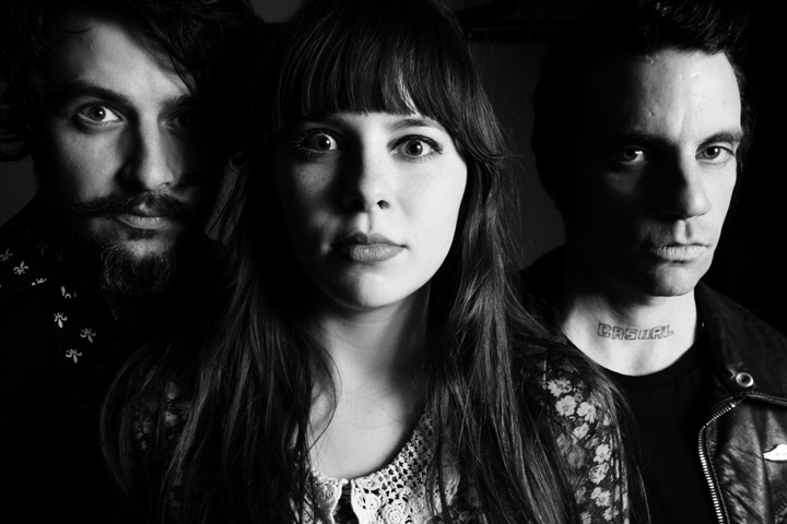 Le Butcherettes / February 2011 / L to R - Jonathan Hischke, Teri Gender Bender, Gabe Serbian