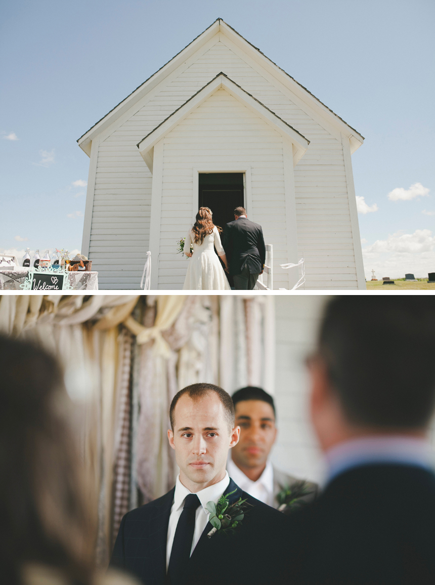Alberta Prairie Church Wedding