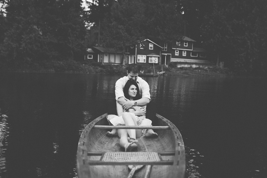 Vancouver Canoe Engagement Photos