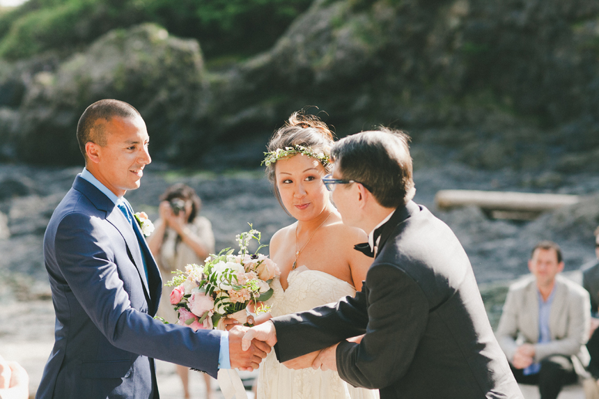 West Coast Beach Ceremony