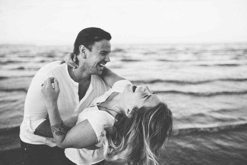 Whiterock Beach Engagement Photos