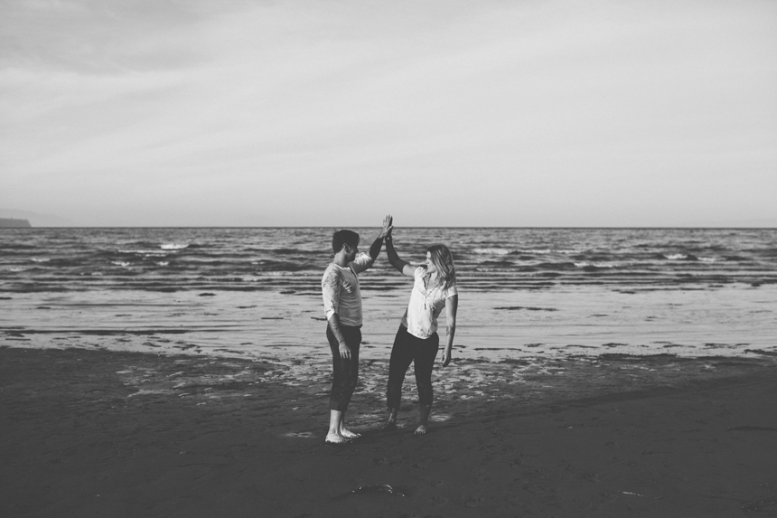 Whiterock Beach Engagement Photography // Shari + Mike