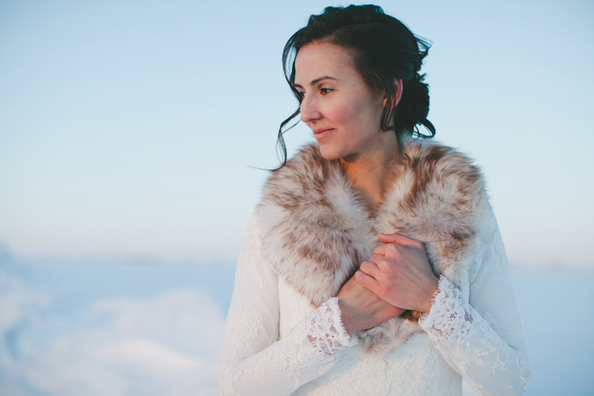 Alberta Winter Wedding Portraits