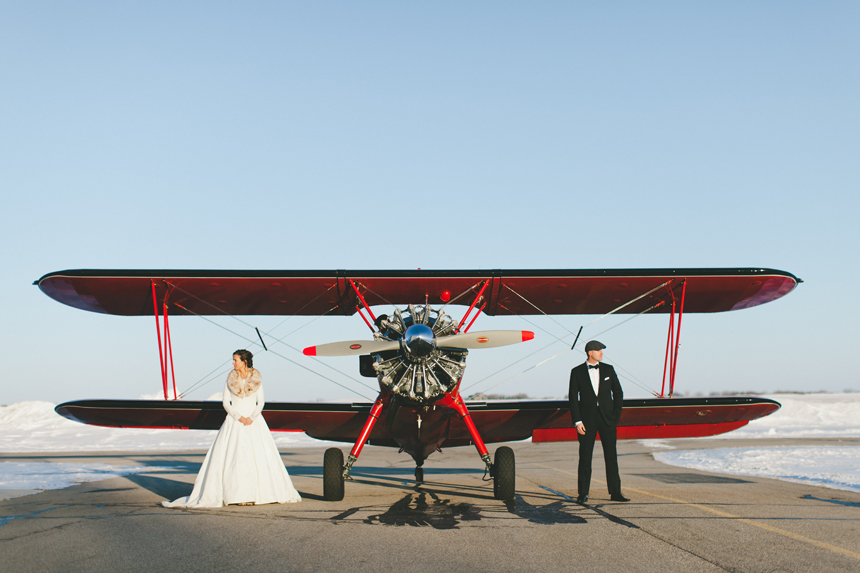 Alberta Vintage Airplane Wedding