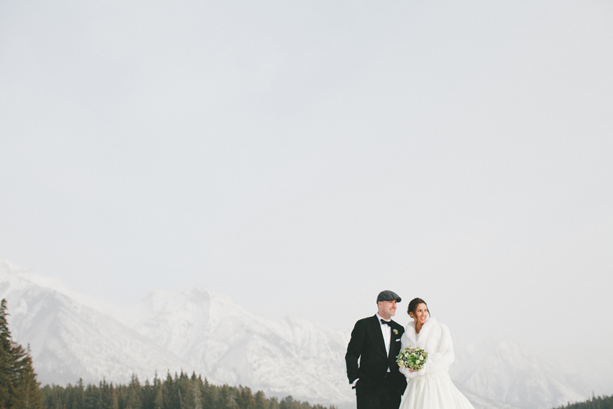 Alberta Rockies Winter Wedding