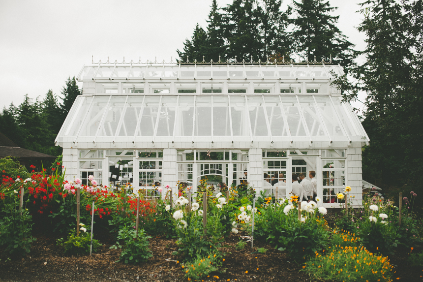 Vancouver Island Greenhouse Wedding