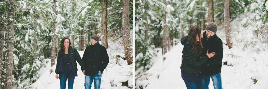 West Coast Winter Engagement Photography