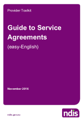 Guide To Service Agreements - A document that can be used to help explain to participants what is involved in making a Service Agreement.
