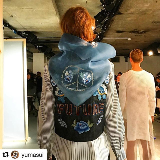 | NO #FIGHT NO #FUTURE | #BODYBOUND #SS18 | Repost @yumasui | @britishfashioncouncil @londonfashionweekmens | #Model @yan.ku @prm_agency | #BODYBOUNDstudio #LFWM ✨