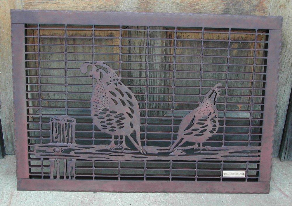 Double Quail on fence rail.jpg