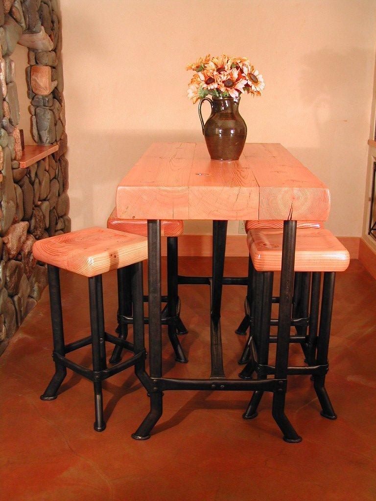 Wine Cellar Table and Stools.jpg