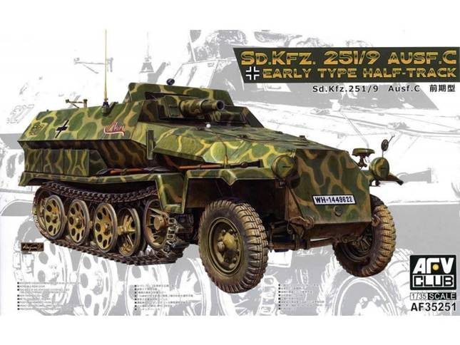 AF35251, Sd.kfz 251/9 Ausf. C Early Type Half-Track