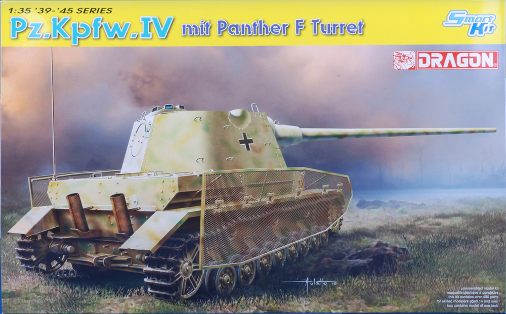 Panzer IV J with Panther F turret- Includes Thoma Schurzen