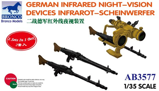 BOM03577,   German Infrared Night-Vision Devices Infrarot-Scheinwerfer
