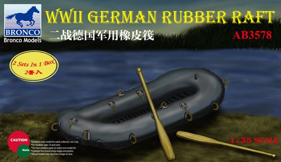 BOM03578,   WWII German Rubber Raft