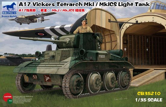 BOM35210,   A17 Vickers Tetrarch MkI / MkICS Light Tank