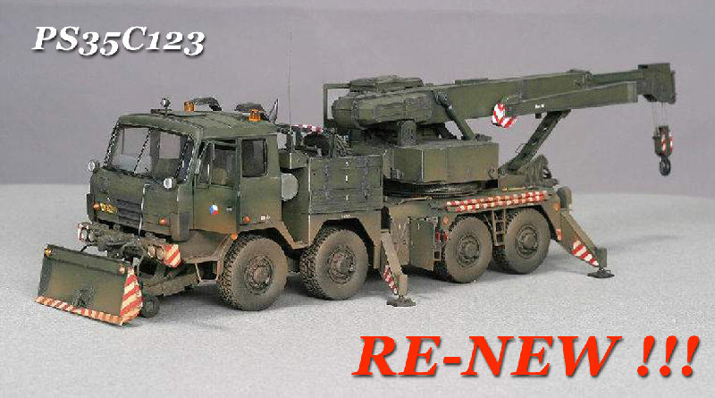 Complete resin kit Heavy Cross-country Recovery Army Truck on Tatra T-815 chassis (373 resin parts), photo-etch (229 parts), decals, clear folie for windows, CD-R with detail instruction + 375 detail photos real vehicles - Czech Army, Czechoslovak People Army, Slovak Army, NVA-East Germany Army marking. Kit is only for experienced modeller.