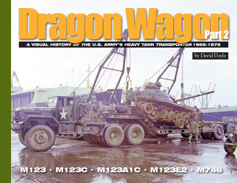 Dragon Wagon is the second in a series of titles covering the U.S. Army's Heavy Tank Transporters. The first volume covered the M25/M26 Pacific family of vehicles and trailers during their service in WWII and Korea. Part 2 picks up the story with the successor to the Pacific; the magnificent 10-ton M123 tractor. The unarmored M123 soldiered on through the 1950s and Vietnam while paired with the modernized M15A1 and M15A2 trailers from WWII. Also covered is the rare and unusual M746 tractor with service pictures from its brief career. Photo coverage includes lavish color shots of the M123 in Vietnam, as well during development and testing. Additional detail photos are provided of the M123A1C, M123E2 and M746.