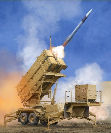 "The PAC-3 is one of the more recent variants of the United States' M901 Patriot SAM System. With upgrades made to almost every part, the PAC-3 saw an upgrade of the software, communication setup, new missile design, new radar seeker, and more. The upgrades allowed the vehicle to provide five times the ""footprint"" that the original Patriot unit could defend against. Kit consists of over 640 parts, including rubber tires and photo-etched parts."
