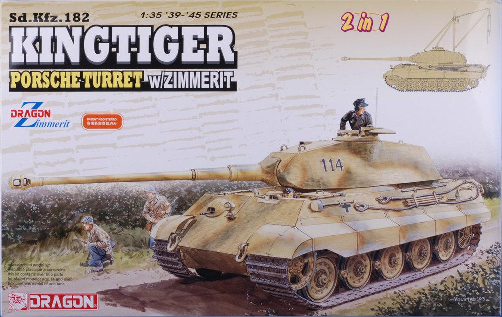 DRA6848, 1/35 Sd.Kfz.182 Kingtiger Porsche Turret w/Zimmerit (2 in 1)